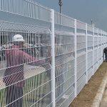 Công trình hàng rào được làm bằng lưới thép hàn